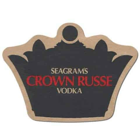 Seagrams Crown Russe Vodka Coaster