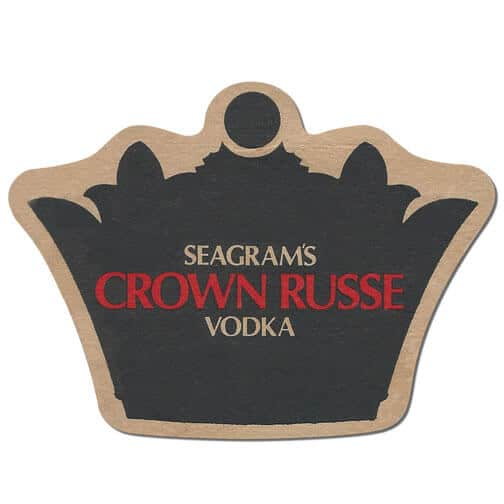 Seagrams Crown Russe Vodka Coaster