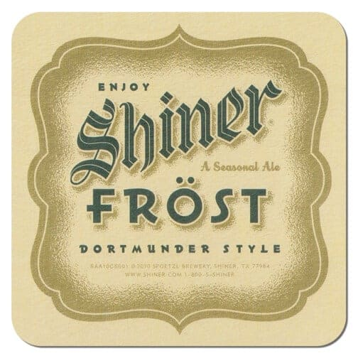 Shiner Frost Beer Mat