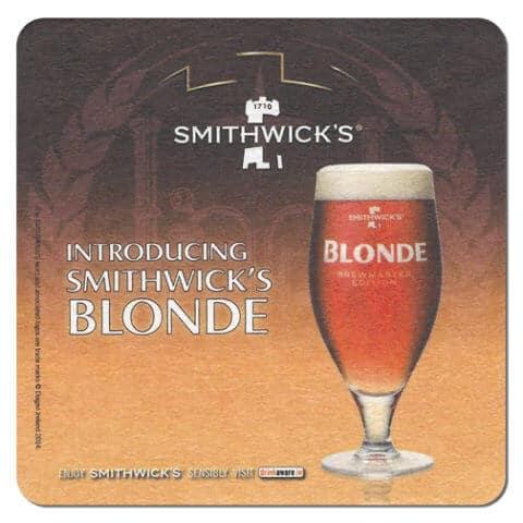 Smithwicks Blonde Drip Mat Front