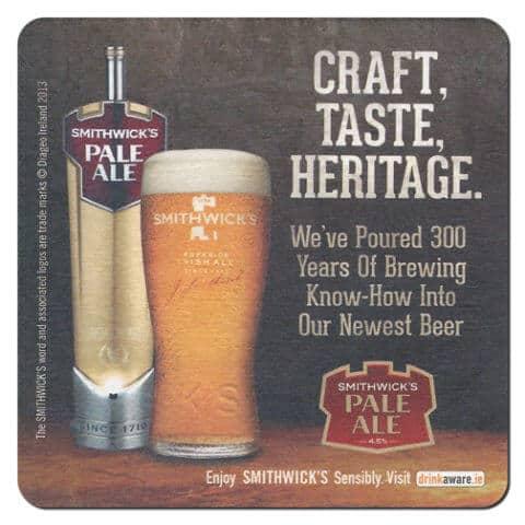 Smithwick's Pale Ale Drip Mat Front