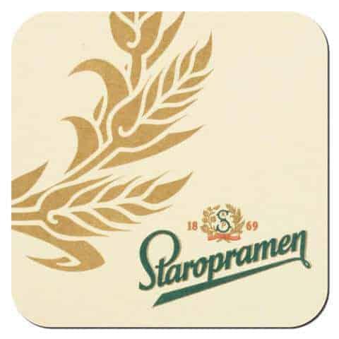 Staropramen Beer Mat Front