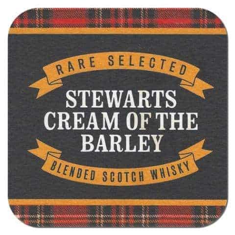 Stewarts Cream of the Barley Whisky Coaster