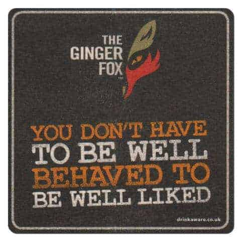 The Ginger Fox Coaster Front