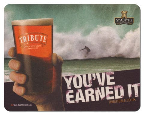 Tribute Beer Mat Front