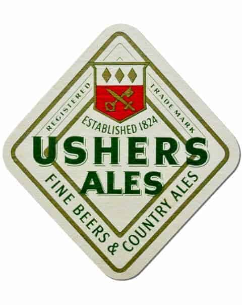 Ushers Ales Coaster