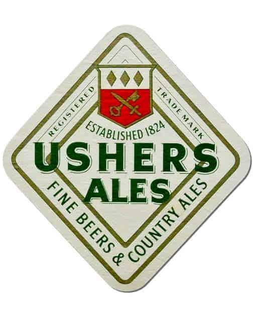 Ushers Ales Coaster