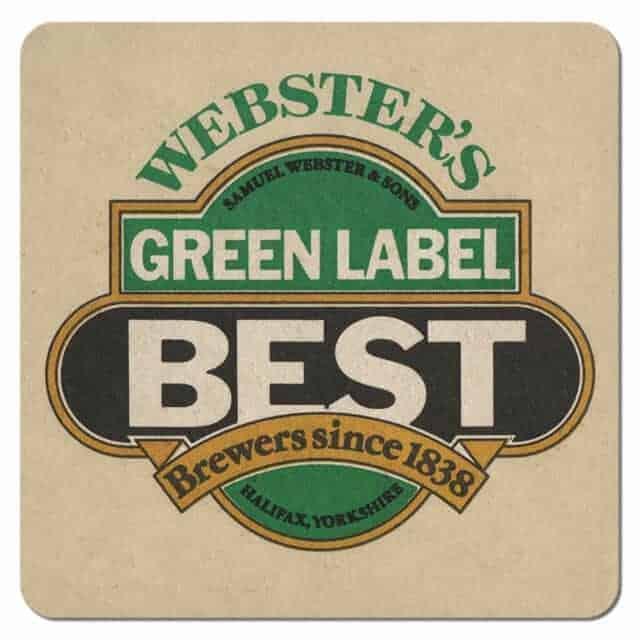 Websters Green Label Best Beer Mat