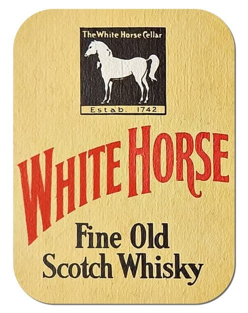 White Horse Whisky Coaster Front