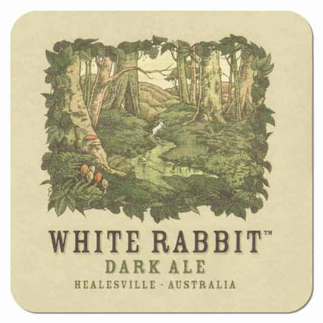 White Rabbit Dark Ale Coaster
