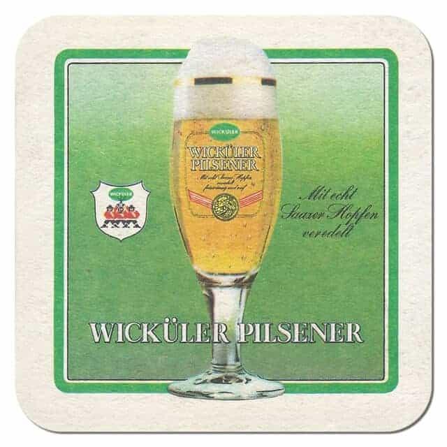Wickuler Pilsner Beer Mat