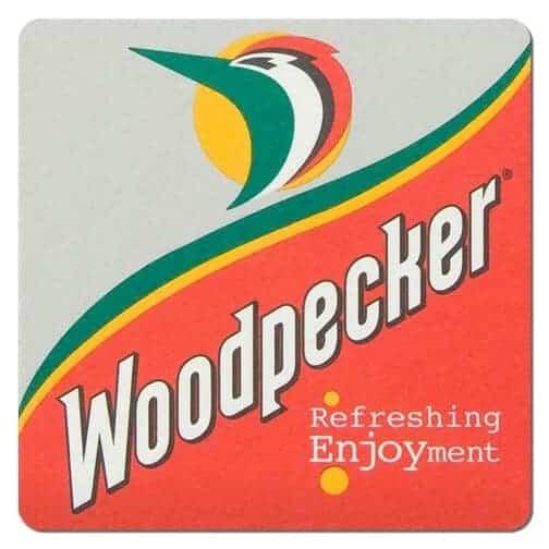 Woodpecker Cider Drip Mat Front