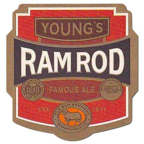 Young Ram Rod Beer Mat