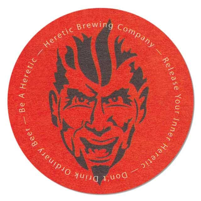 Heretic Brewing Company Coaster