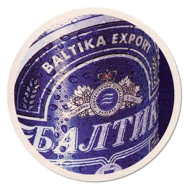 Baltica Export Beer Mat