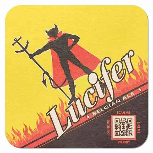 Lucifer Belgian Ale Beer Mat