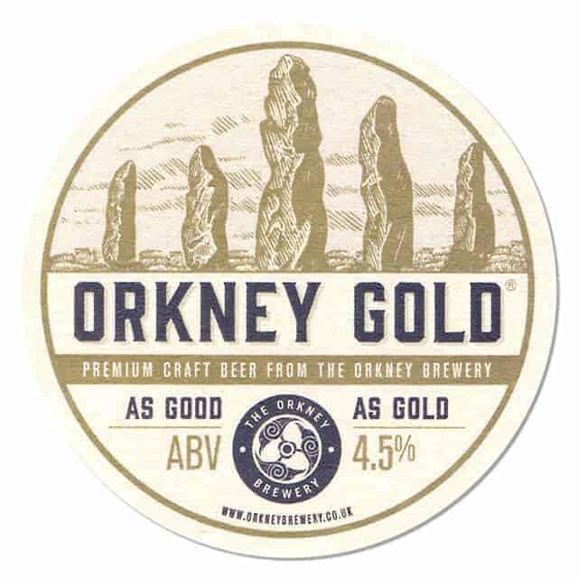 Orkney Gold Coaster Beer Mat