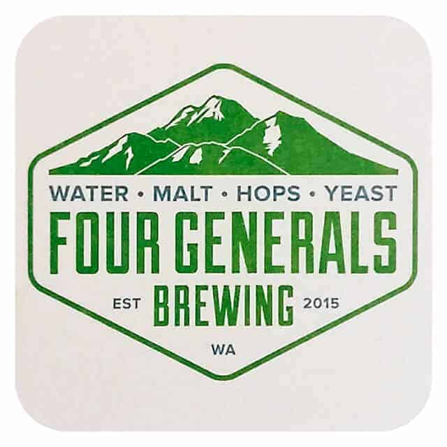 Four Generals Brewing Beer Mat