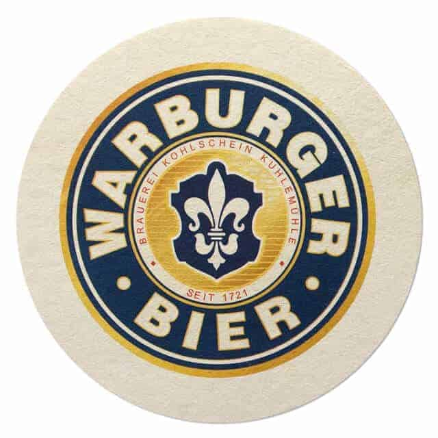 Warburger Bier Beer Mat