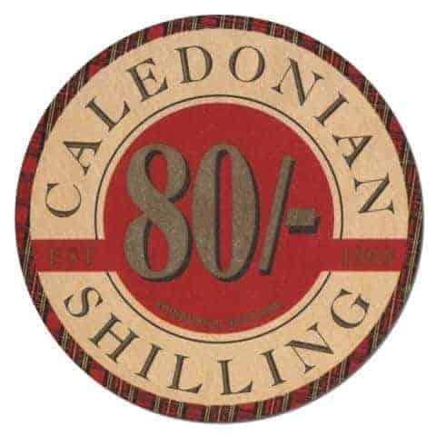 Caledonian 80 Shilling Beer Mat