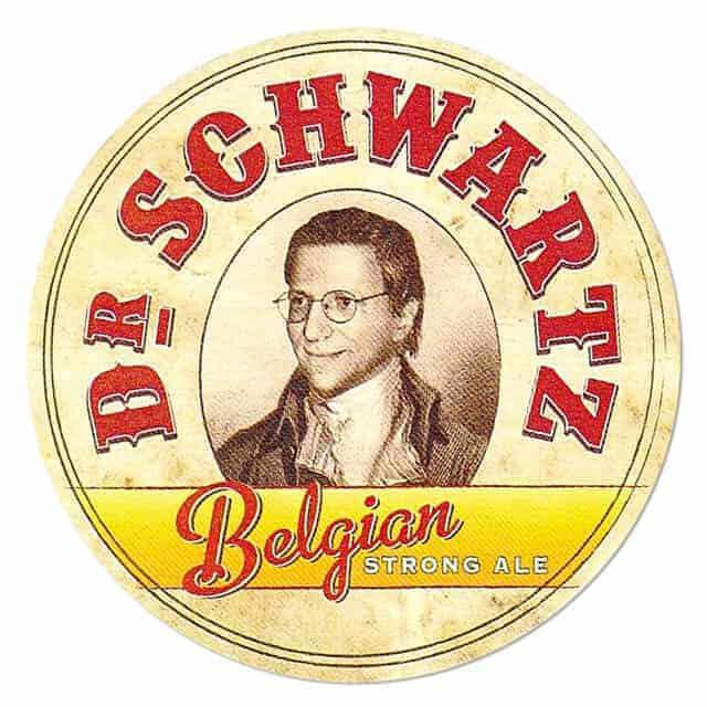 Dr Schwartz Belgian Strong Ale Beer Mat