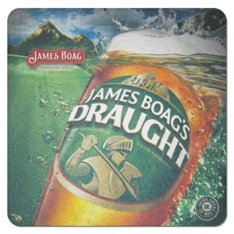James Boags Draught Beer Mat