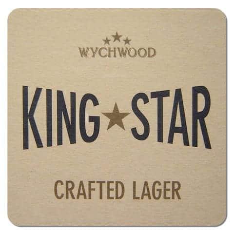 Wychwood King Star Lager Beer Mat