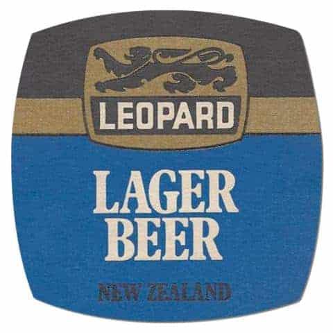 Leopard Lager Beer Mat