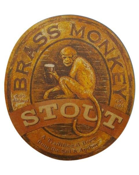 Brass Monkey Stout Beer Mat