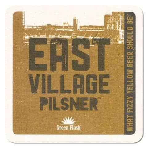 Green Flash - East Village Pilsner Beer Mat