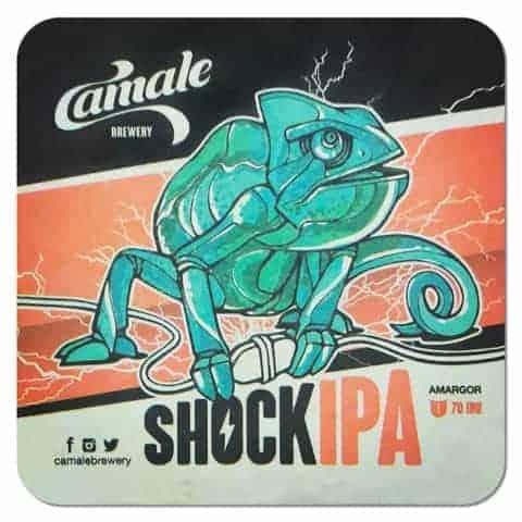 Camale Brewery - Shock IPA Beer Mat