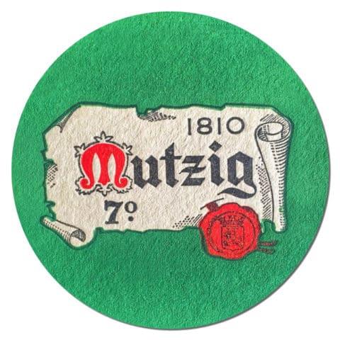 Mutzig Beer mat