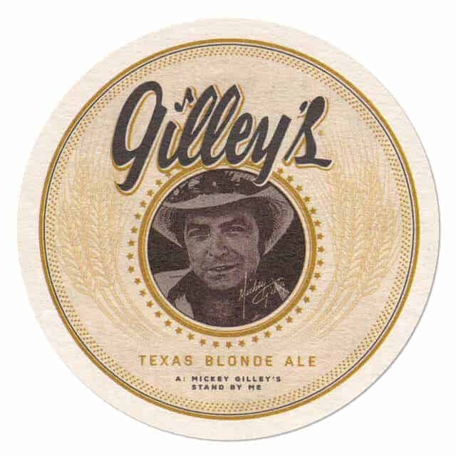 Gilleys Texas Blonde Ale Coaster