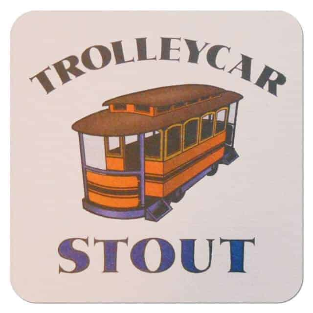 Fox River Brewing - Trolly Car Stout Coaster