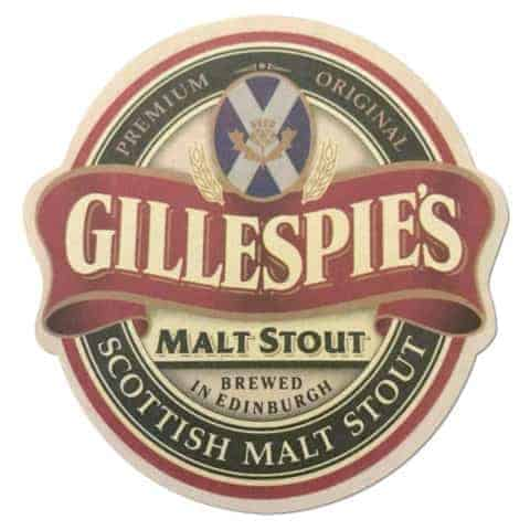 Gillespie's Malt Stout Beer Mat
