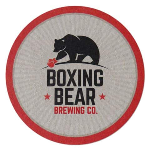 Boxing Bear Brewing Co Beer Mat