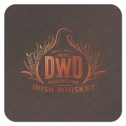 DWD Dublin Whiskey Distillery Company Coaster