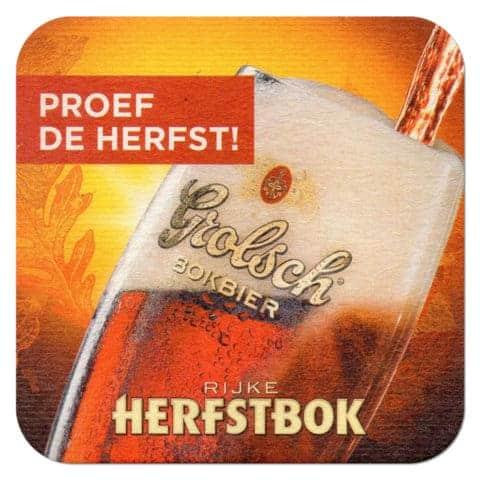 Grolsch Rijke Herfstbok Beer Mat