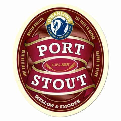 O'Hanlons Port Stout Beer Mat