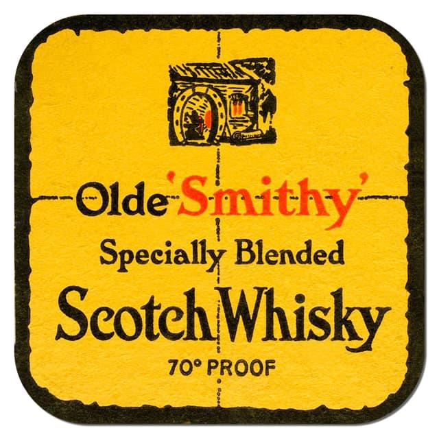 Olde Smith Whisky Coaster