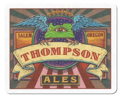 Thompson Ales Beer Mat