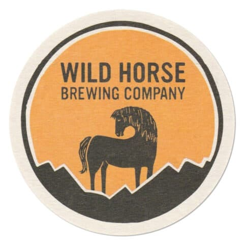Wild Horse Brewing Company Beer Mat