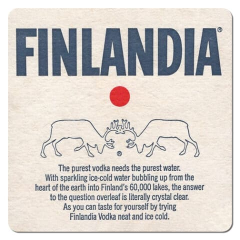 Finlandia Vodka Coaster
