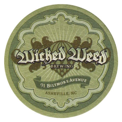 Wicked Weed Brewing Beer Mat