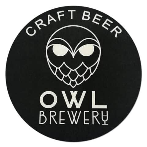 Owl Brewery Beer Mat