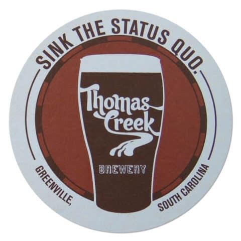 Thomas Creek Brewery Beer Mat