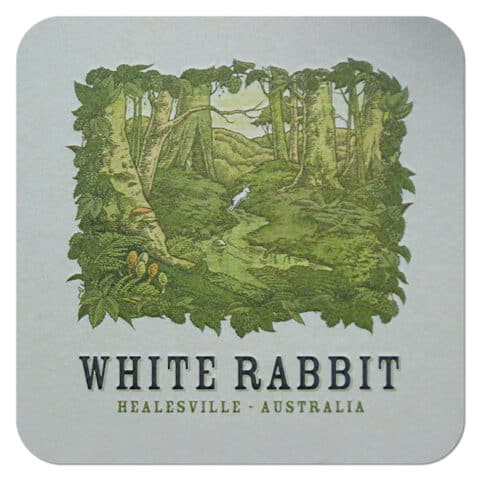 White Rabbit Beer Mat