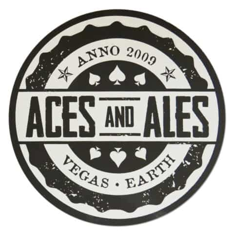Aces and Ales Beer Mat